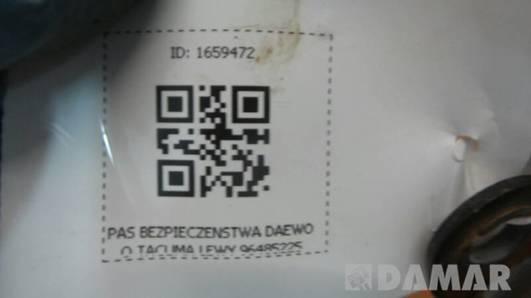 96485225 PAS BEZPIECZENSTWA LEWY DAEWOO TACUMA
