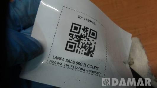 4398582 LAMPA PRAWA TYL SAAB 900 II COUPE  EUROPA