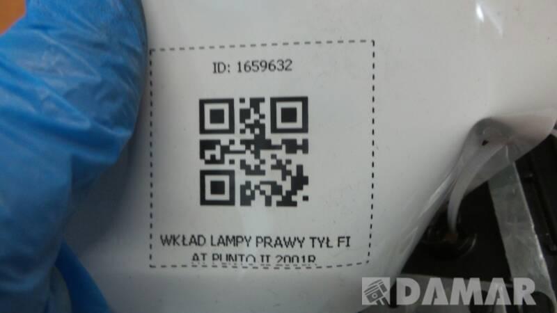 WKLAD LAMPY PRAWY TYL FIAT PUNTO II 2001R