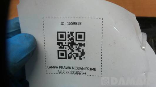 23180204 LAMPA PRAWA NISSAN PRIMERA P11