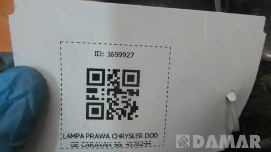 4576244 LAMPA PRAWA CHRYSLER DODGE CARAVAN 96r