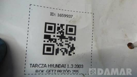 TARCZA PRZOD HYUNDAI GETZ 1.3 2003 255