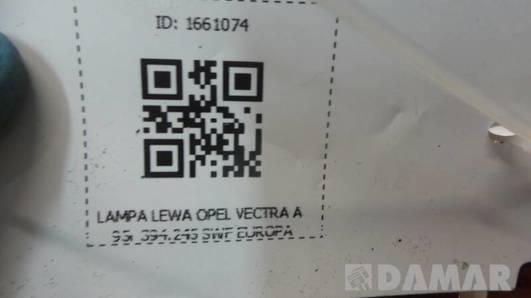 394.245 LAMPA LEWA OPEL VECTRA A 95r  SWF EUROPA