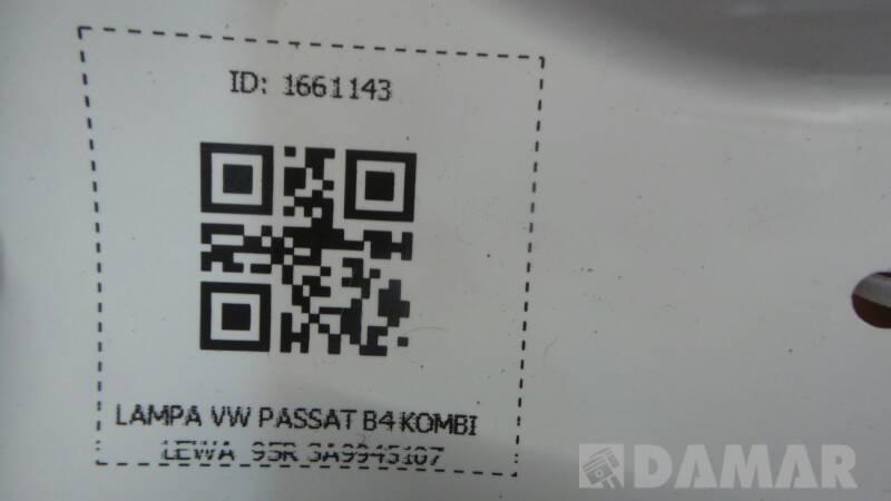 3A9945107 LAMPA LEWA VW PASSAT B4 KOMBI 95R
