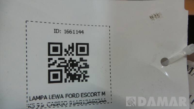 LAMPA LEWA FORD ESCORT MK5 91r CABRIO 91AG13A603AA