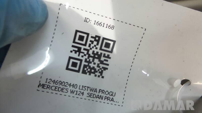 1246902440 LISTWA PROGU MERCEDES W124  SEDAN PRAWA