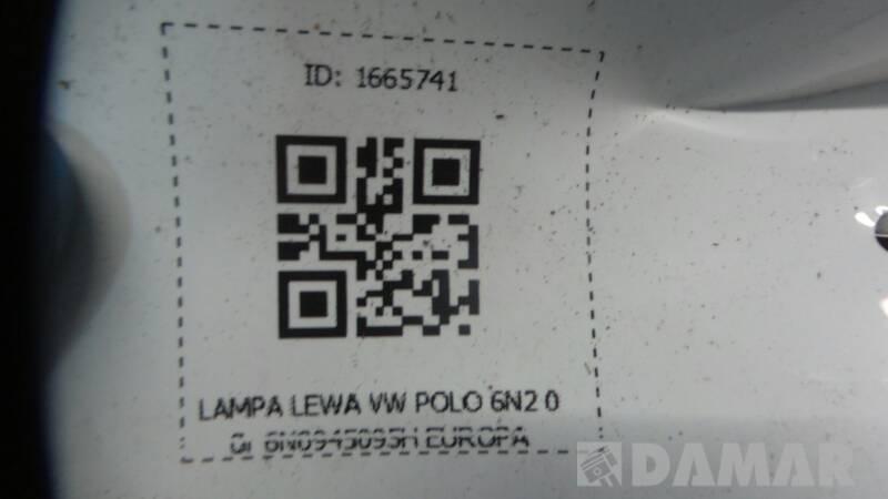 6N0945095H  LAMPA LEWA VW POLO 6N2 00r EUROPA