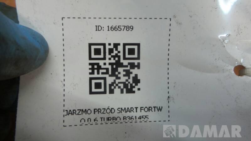 B361455 JARZMO PRZOD SMART FORTWO 0.6 TURBO