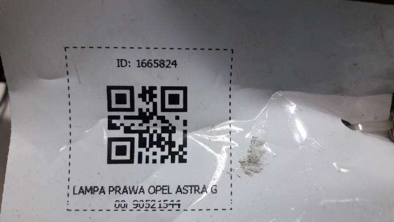 90521544 LAMPA PRAWA OPEL ASTRA G 00