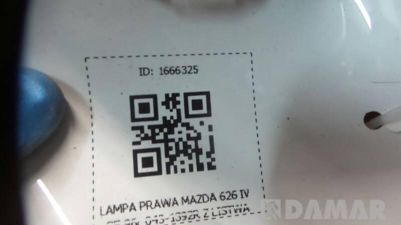 043-1392R LAMPA PRAWA MAZDA 626 IV GE 96r Z LISTWA