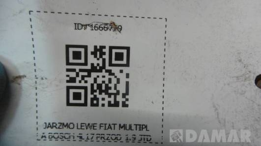 JARZMO LEWE FIAT MULTIPLA BOSCH 4L17 PRZOD 1.9 JTD