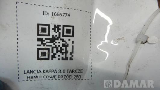 TARCZA HAMULCOWA PRZOD LANCIA KAPPA 3.0   280