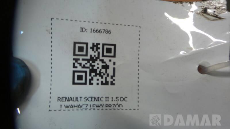WAHACZ LEWY PRZOD RENAULT SCENIC II 1.5 DCI