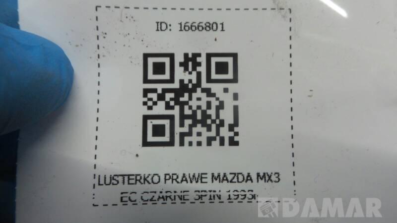 LUSTERKO PRAWE MAZDA MX3 EC CZARNE 3PIN 1993r