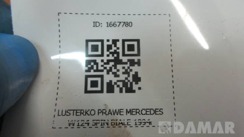 LUSTERKO PRAWE MERCEDES W124 5PIN BIALE 1994r