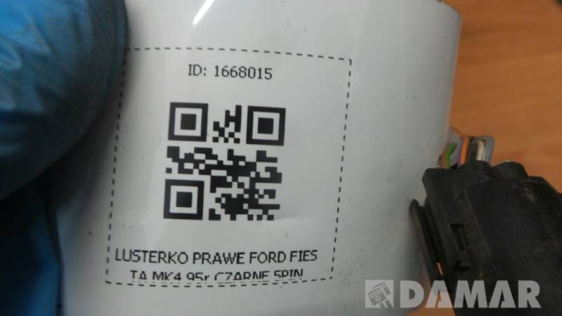 LUSTERKO PRAWE FORD FIESTA MK4 95r CZARNE 5PIN