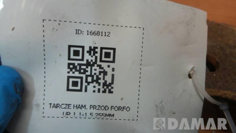 TARCZA HAMULCOWA PRZOD FORFOUR 1.1-1.5 255MM
