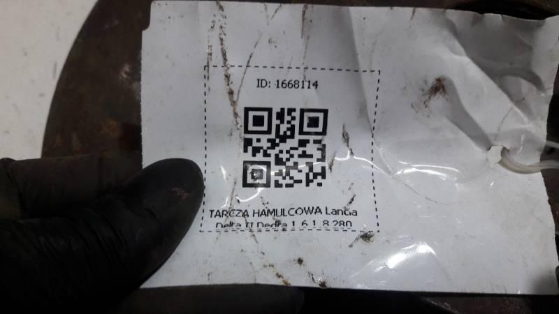 TARCZA HAMULCOWA Lancia Delta II Dedra 1.6 1.8 280