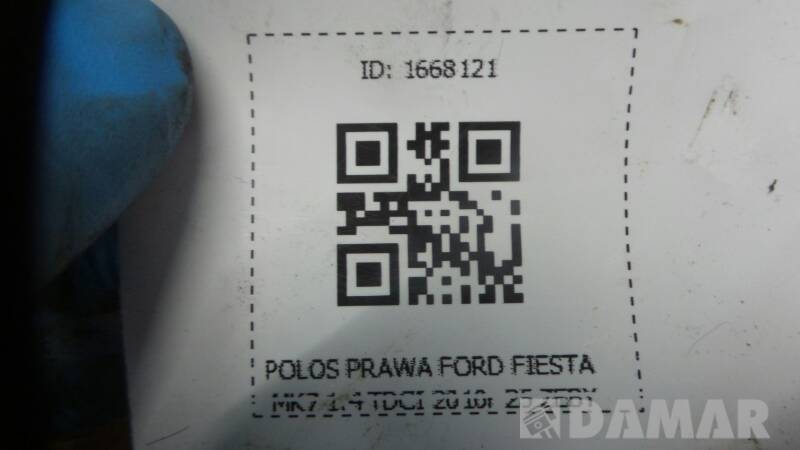 POLOS PRAWA FORD FIESTA MK7 1.4 TDCI 2010r 25 ZEBY