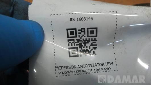 MCPERSON AMORTYZATOR LEWY PRZÓD PEUGEOT 106 SAXO