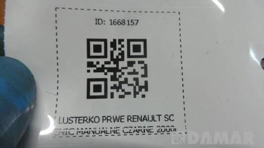 LUSTERKO PRWE RENAULT SCENIC MANUALNE CZARNE 2000r
