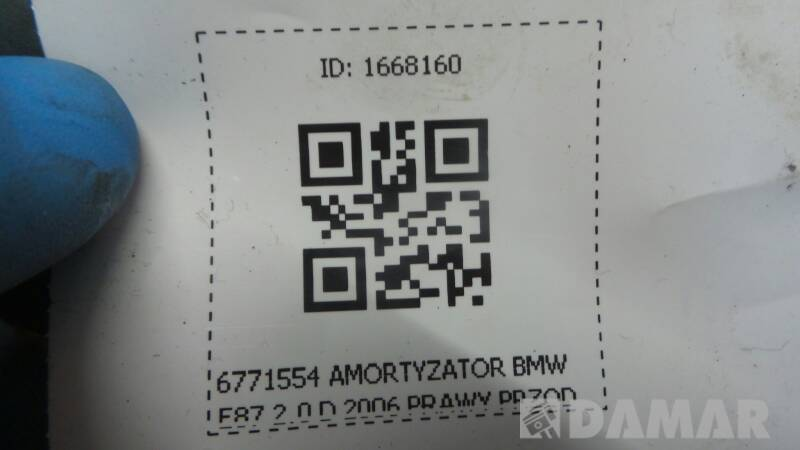 6771554 AMORTYZATOR BMW E87 2.0 D 2006 PRAWY PRZOD
