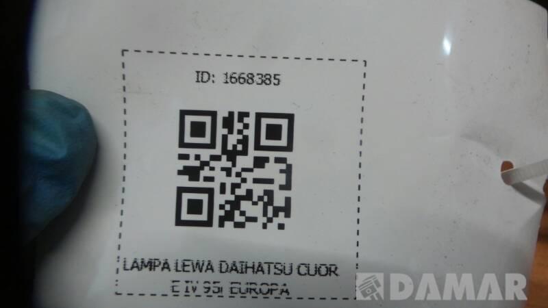 LAMPA LEWA DAIHATSU CUORE IV 95r EUROPA