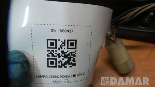 LAMPA LEWA PORSCHE 924 COUPE 77r