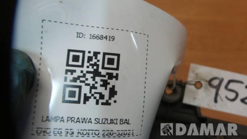 220-32021 LAMPA PRAWA SUZUKI BALENO SEDAN