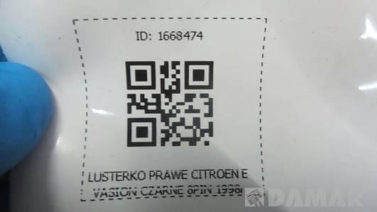 LUSTERKO PRAWE CITROEN EVASION CZARNE 8PIN 1998r