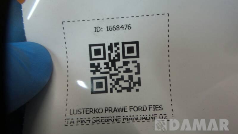 LUSTERKO PRAWE FORD FIESTA MK4 SREBRNE MANUALNE 02