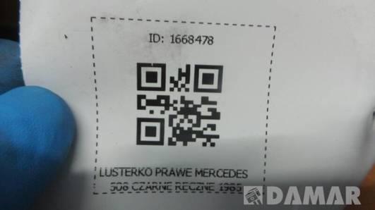 LUSTERKO PRAWE MERCEDES 508 CZARNE RECZNE 1985