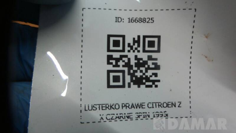 LUSTERKO PRAWE CITROEN ZX CZARNE 3PIN 1995r