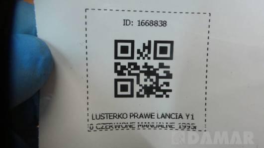 LUSTERKO PRAWE LANCIA Y10 CZERWONE MANUALNE 1995r