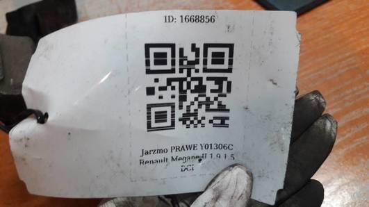 Y01306C JARZMO PRAWE RENAULT MEGANE II 1.9 1.5 DCI
