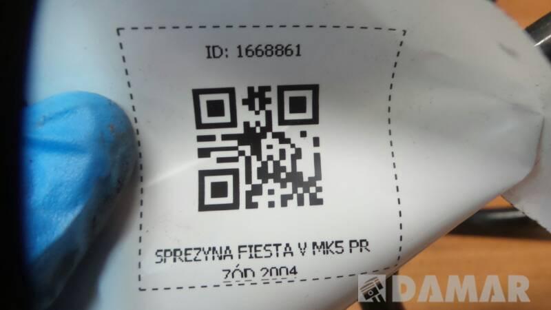 SPREZYNA FIESTA MK5 PRZÓD 2002 350 MM 11,8MM