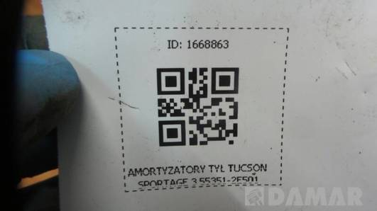 55351-2E501 AMORTYZATORY TYL TUCSON SPORTAGE 3