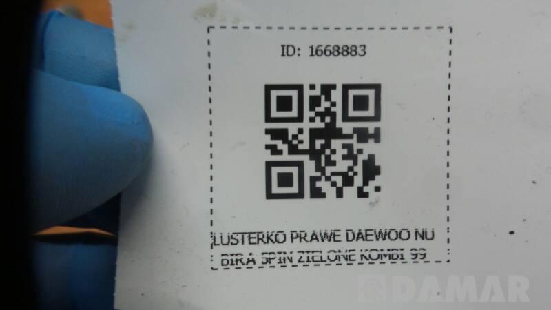 LUSTERKO PRAWE DAEWOO NUBIRA 5PIN ZIELONE KOMBI 99