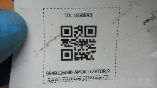 9649126080 AMORTYZATOR PRAWY PRZEDNI CITROEN C3