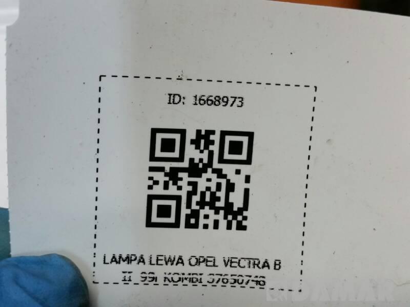 37650748 LAMPA LEWA OPEL VECTRA B II  99r KOMBI