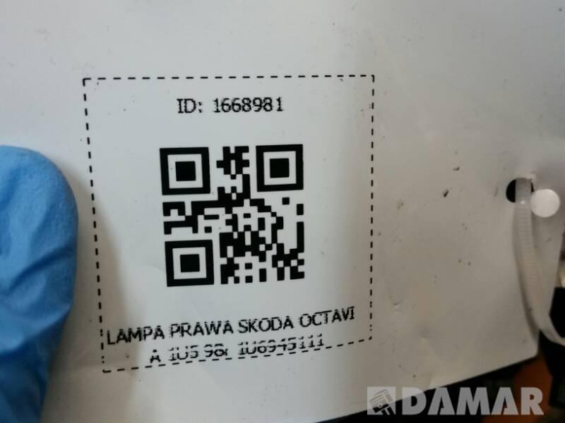 LAMPA LEWA SKODA OCTAVIA 1U5 98r 1U6945111