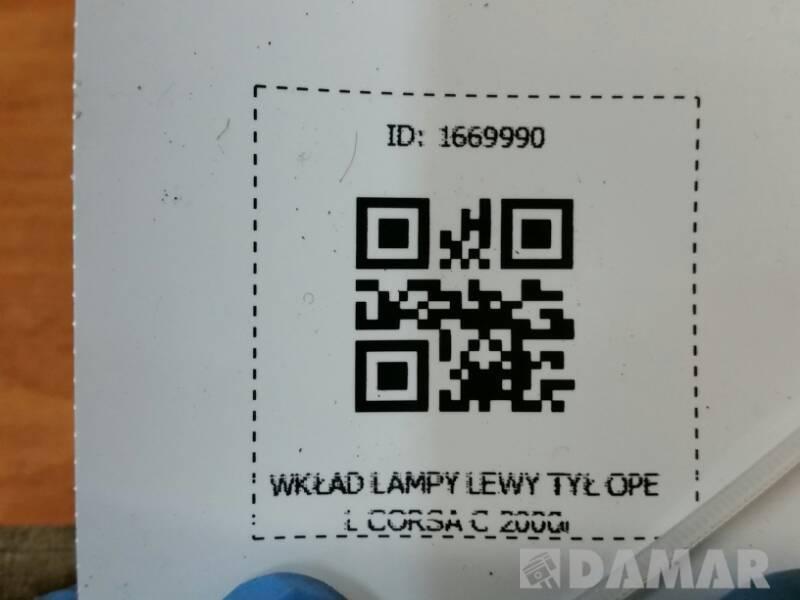 WKLAD LAMPY LEWY TYL OPEL CORSA C 2000r