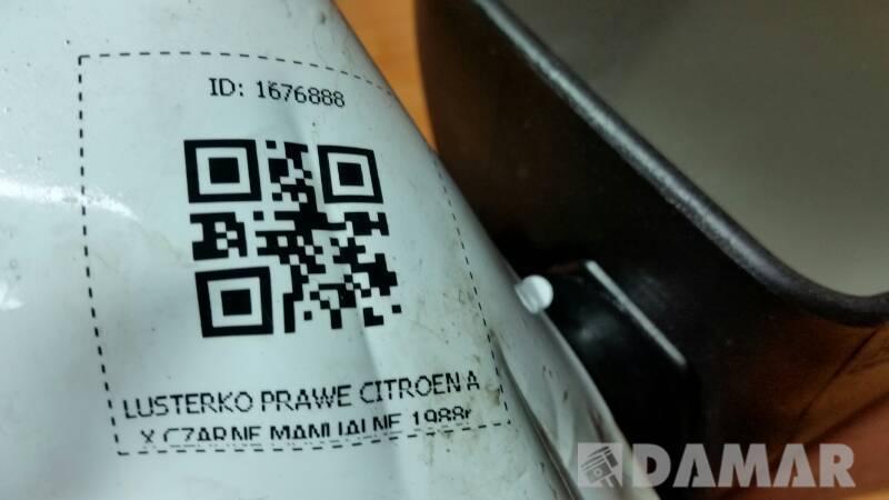 11961040 LUSTERKO PRAWE CITROEN AX MANUALNE 88r