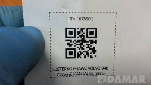 LUSTERKO PRAWE VOLVO 940 CZARNE MANUALNE 1991r