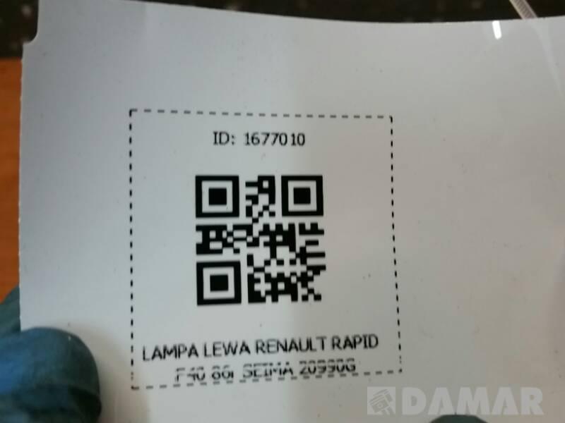 SEIMA 20990G LAMPA LEWA RENAULT RAPID F40 86r