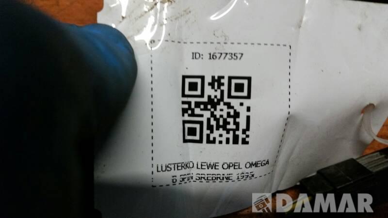 LUSTERKO LEWE OPEL OMEGA B 5PIN SREBRNE 1995r