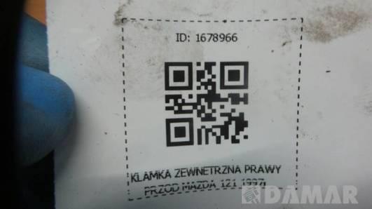 KLAMKA ZEWNETRZNA PRAWY PRZOD MAZDA 121 1997r