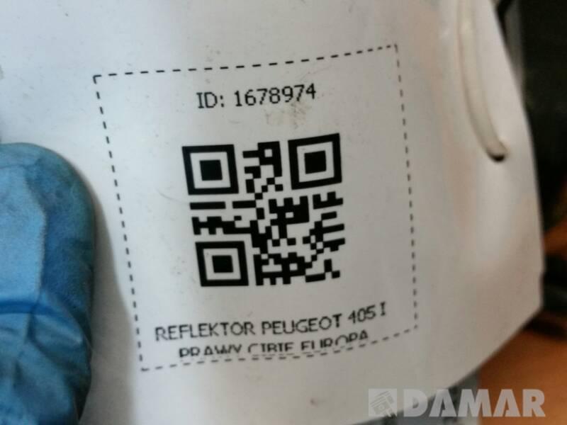 REFLEKTOR PRAWY PEUGEOT 405 I CIBIE EUROPA