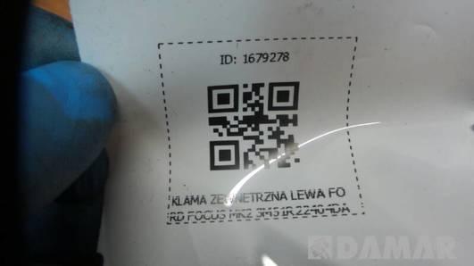 3M51R22404DA KLAMA ZEWNETRZNA LEWA FORD FOCUS MK2