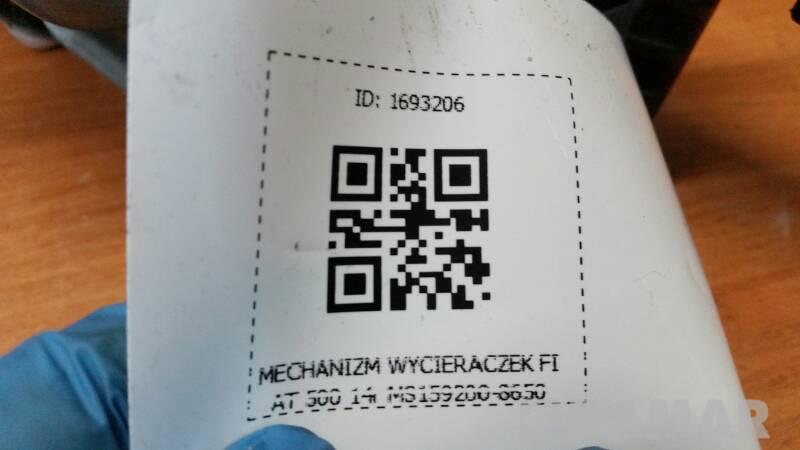 MECHANIZM WYCIERACZEK FIAT 500 14r MS159200-8650